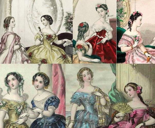 Бальные причёски 19 века